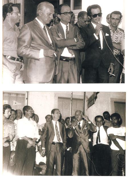 Governo Elicio Pales - Inauguração da Rua José Antonio Pales nos últimos anos de Governo 70 a 72