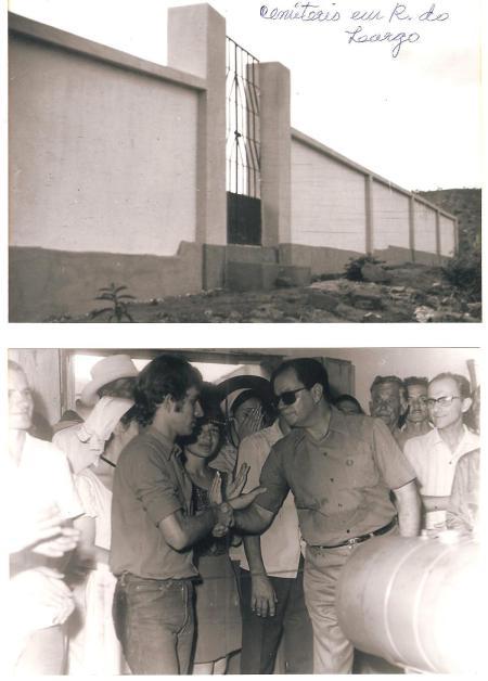1ª foto cemitério em R L construido nos 4 anos - 2ª foto inauguração do gerador em RL oportunidade que o dep. Clério Correia saudava o filho do Sr.Elicio, Geraldo S. Oliveira