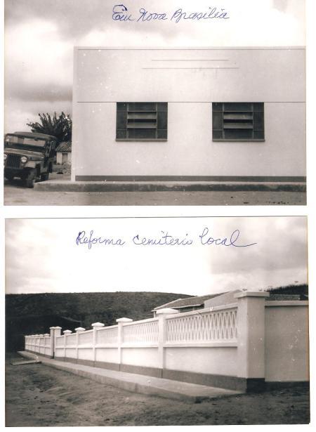 Sala de aula de Nova Braislia única na época 2ª foto Cemitério local Reconstruido nos 4 anos de governo - 63 a 67